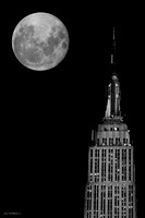 Empire State Building and moon